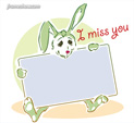Photo Frame for I Miss you: 0001795