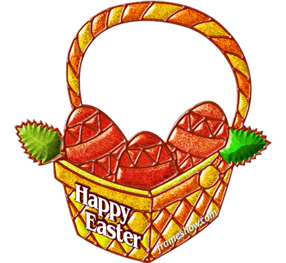 Happy Easter basket image frame