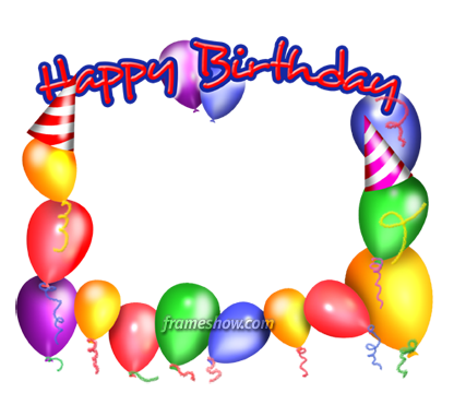 Happy Birthday Frame Png Ballons Happy Birthday picture