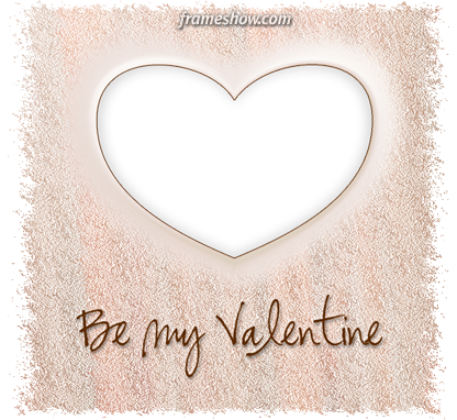 be my valentine e-card photo frame