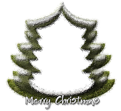 Christmas tree photo frame e-card