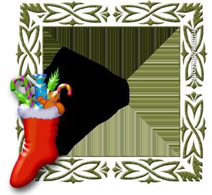 Santa Claus socks image frame e-card