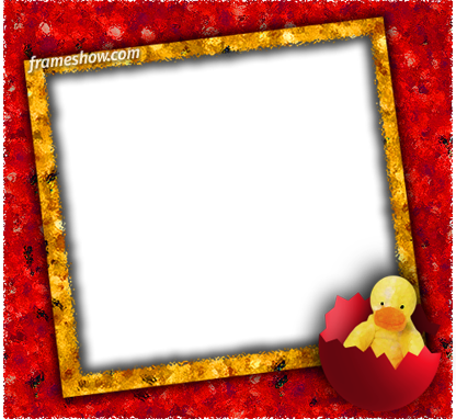 Easter chicken photo frame