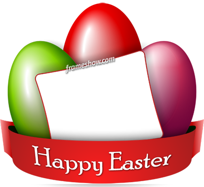 Happy Easter image frame