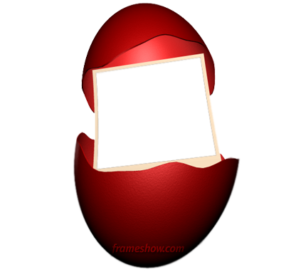 Easter red egg photo frame