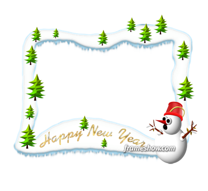 happy new year photo frame ecard