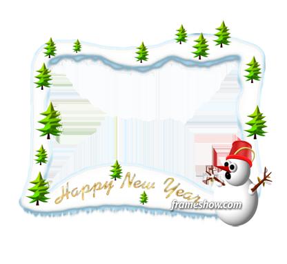 happy new year photo frame ecard