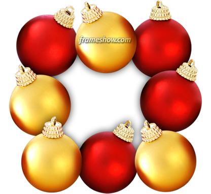 Christmas balls photo frame